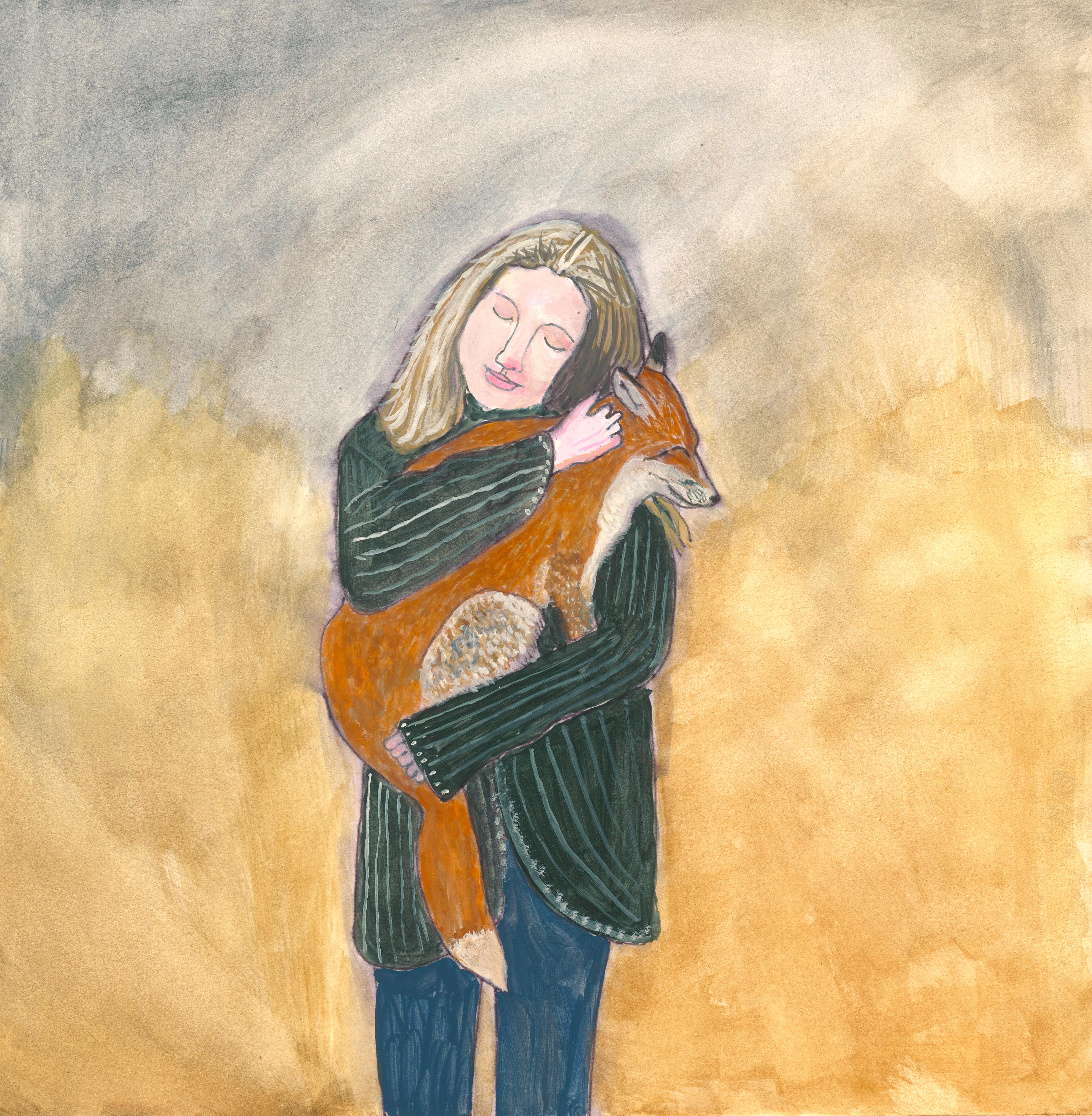 Girl with Pet Fox