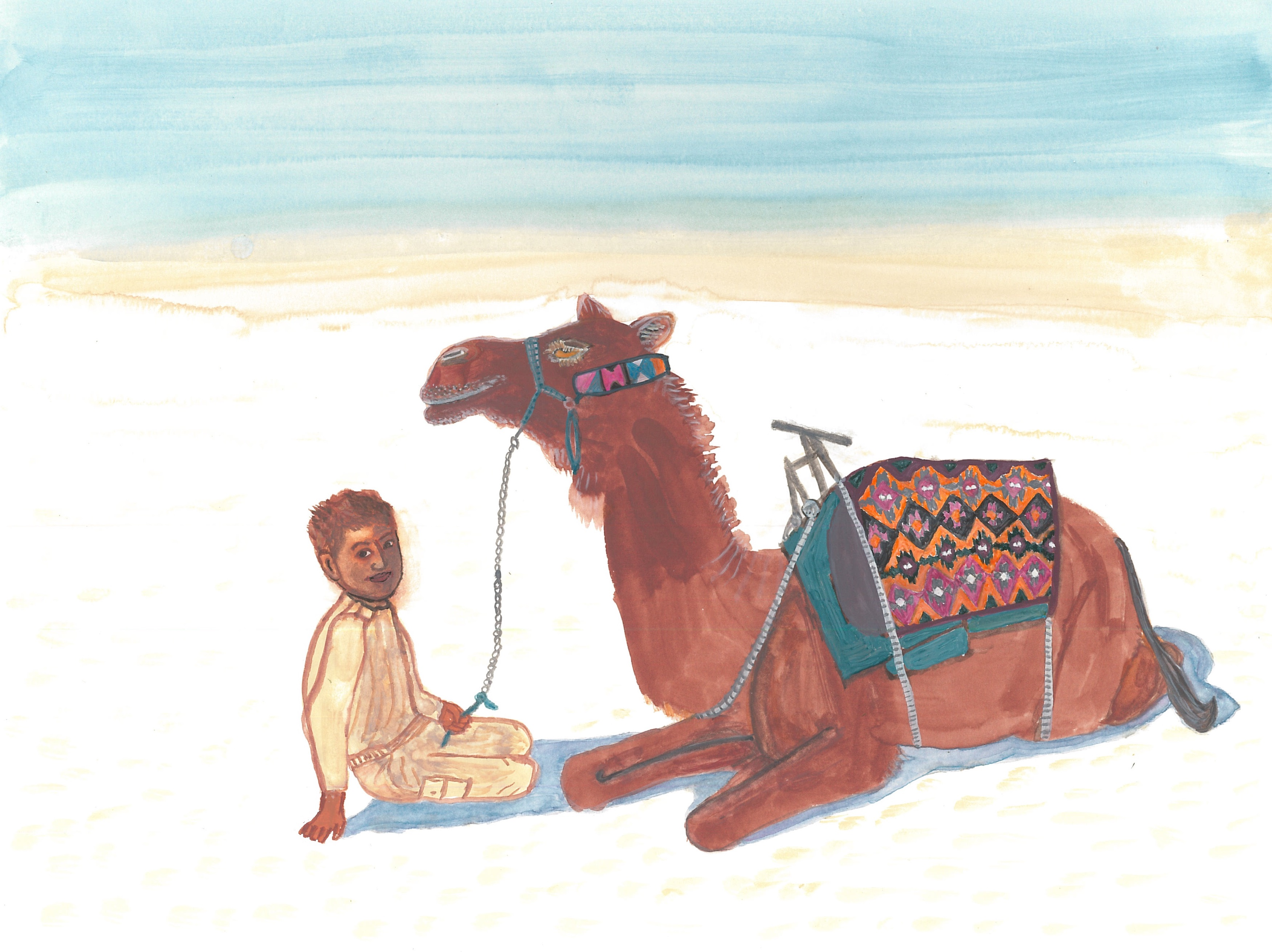 Boy with Camel